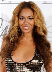 100% Human Hair Brown Long Wigs Full Lace Beyonce Knowles' Wigs