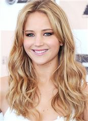 Online Long Blonde Full Lace Celebrity Hairstyle 100% Human Hair