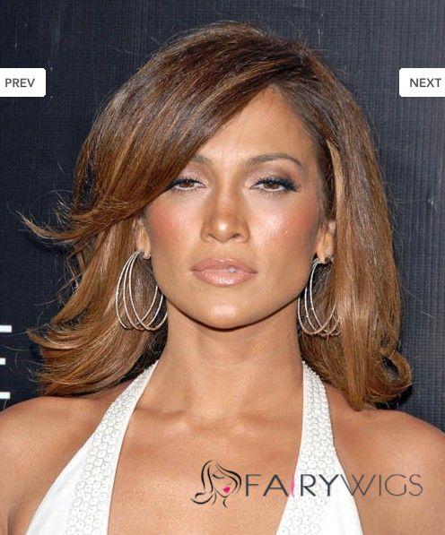 Dream Medium Brown Female Celebrity Hairstyle 100% Human Hair