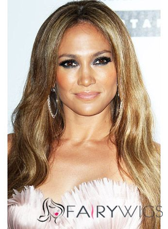 Lovely Long Brown Lace Front Celebrity Hairstyle