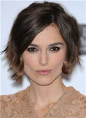 Unique Sepia Short Lace Front Celebrity Hairstyle Human Hair