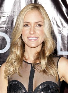 Full Lace 2015 Fashion Trend Medium Blonde Female Celebrity Hairstyle