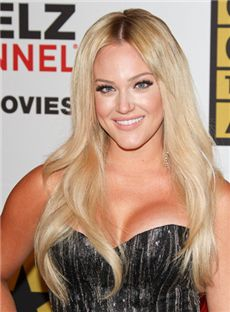 Cheap Long Blonde Full Lace Celebrity Hairstyle