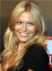 Newest Medium Full Lace Blonde Celebrity Hairstyle 100% Human Hair