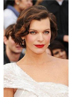 Hand Knitted Short Sepia Celebrity Hairstyle 100% Human Hair