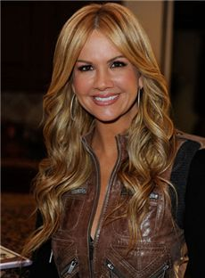 New Impressive Long Brown Full Lace Celebrity Hairstyle 100% Human