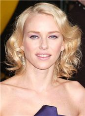 Super Smooth Short Blonde Full Lace Celebrity Hairstyle 100% Human