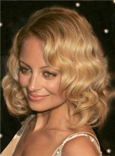 Sparkle Medium Blonde Full Lace Celebrity Hairstyle 100% Human Hair