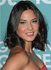 Elegant Short Black Full Lace Celebrity Hairstyle