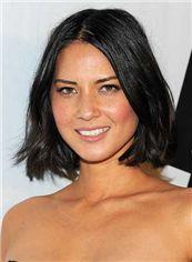 Fabulous Short Black Full Lace Celebrity Hairstyle
