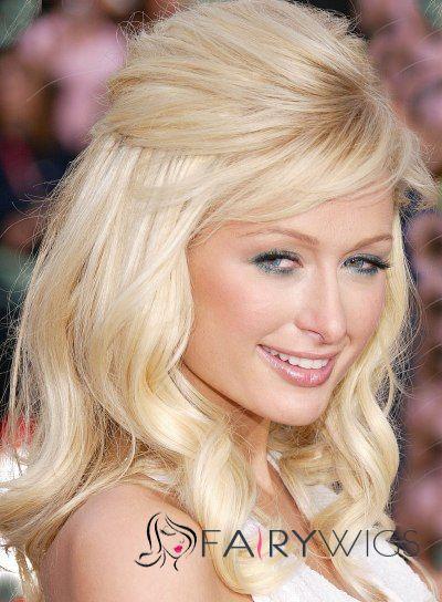 Simple Medium Blonde Female Celebrity Hairstyle