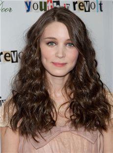 Dainty Medium Sepia Full Lace Celebrity Hairstyle