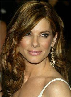 Graceful Medium Sepia Full Lace Celebrity Hairstyle