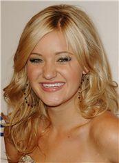 Shining Medium Blonde Full Lace Celebrity Hairstyle