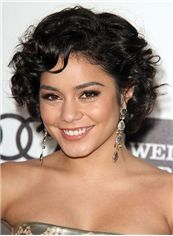 Outstanding Short Black Full Lace Celebrity Hairstyle