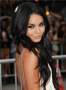 Sweet Long Black Full Lace Celebrity Hairstyle