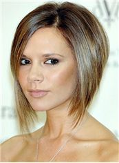 Wholesale Silk Top Short Brown Celebrity Hairstyle 100% Human Hair