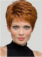 Custom Full Lace Red 100% Indian Remy Hair Wigs for Women
