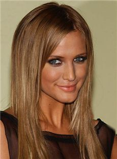 Best Brown 100% Indian Remy Hair Full Lace Wigs for Women