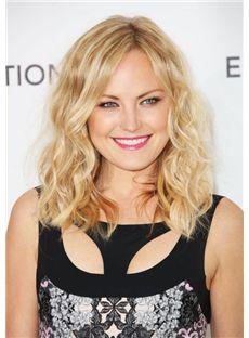 Full Lace Medium Blonde Virgin Brazilian Hair Wigs for Women