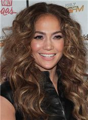Fabulous Long Wavy Brown Lace Front African American Wigs for Women