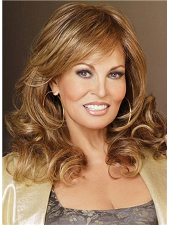 Glamorous Cheap Human Hair Brown Medium Wigs