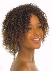 Special Cool Cheap Human Hair Sepia Short Wigs for Black Women