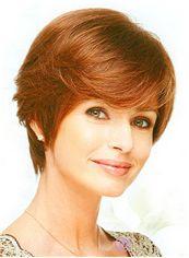 Wholesale Cheap Human Hair Brown Short Wigs