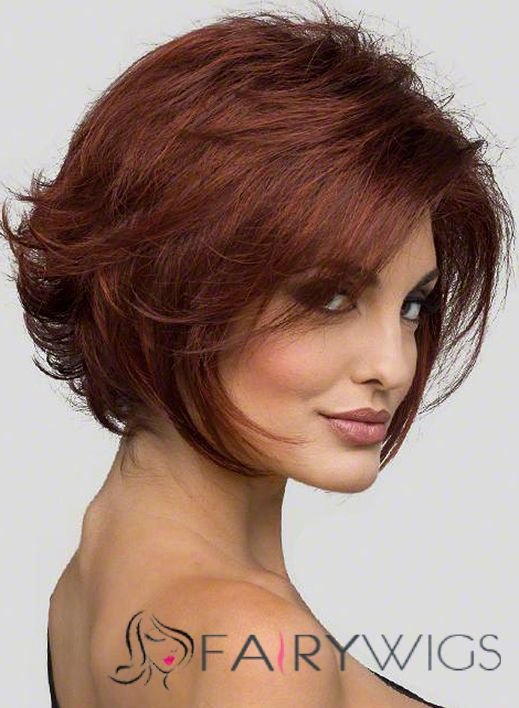 Online Cheap Human Hair Ebony Short Wigs