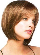 Real Human Cheap Human Hair Brown Short Wigs