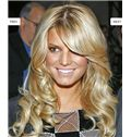 Lovely Cheap Human Hair Blonde Medium Wigs
