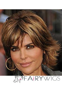Faddish Cheap Human Hair Sepia Short Wigs for Black Women