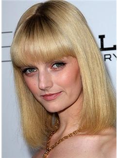 Shinning Cheap Human Hair Blonde Short Wigs