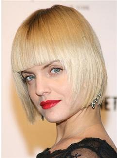 Natural Cheap Human Hair Blonde Short Wigs