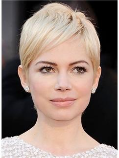 Gorgeous Cheap Human Hair Blonde Short Wigs
