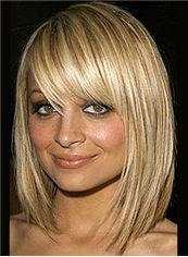Exquisite Cheap Virgin Brazilian Hair Blonde Medium Wigs
