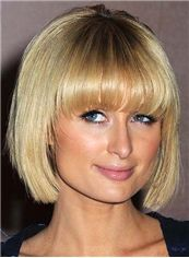 Cheap Cheap Human Hair Blonde Short Wigs