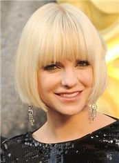 Attractive Cheap Human Hair Blonde Short Wigs