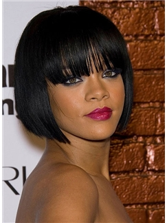Exquisite Short Black Synthetic Hair Wigs for Black Women