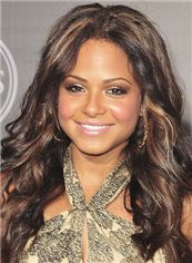 Full Lace Long Sepia 100% Indian Remy Hair Wigs for Black Women