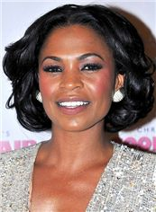 Full Hand Knitted Short Black Remy Hair Wigs for Black Women