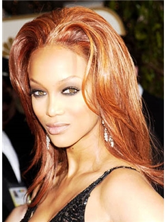 Super Smooth Medium Brown Lace Front Hair Wigs for Black Women