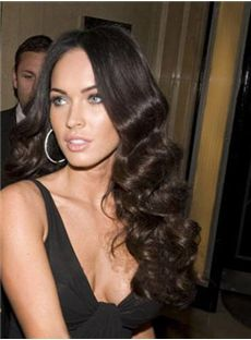 2015 New Long Wavy Black Full Lace 100% Indian Remy Hair Wigs