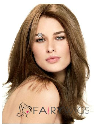 Full Lace 2015 New Medium Wavy Sepia Remy Wigs