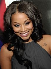 Sparkle Long Wavy Sepia African American Full Lace Wigs for Women