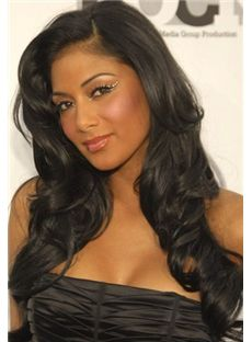 Ingenious Long Wavy Sepia African American Wigs for Women