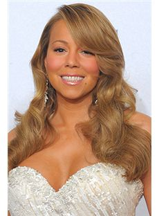 Up-to-date Long Wavy Blonde African American Wigs for Women