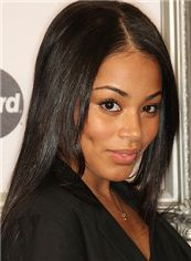 Custom Medium Straight Sepia African American Full Lace Wigs for Women