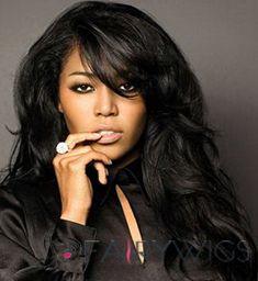 Custom Super Charming Long Wavy Black African American Wigs for Women