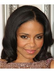 Soft Short Wavy Black African American Full Lace Wigs for Women